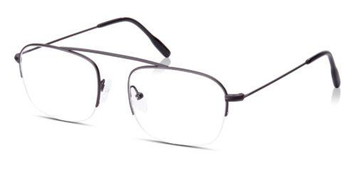 Aviator half-frame glasses