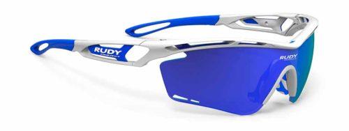 Tralyx לבן עם עדשות כחולות